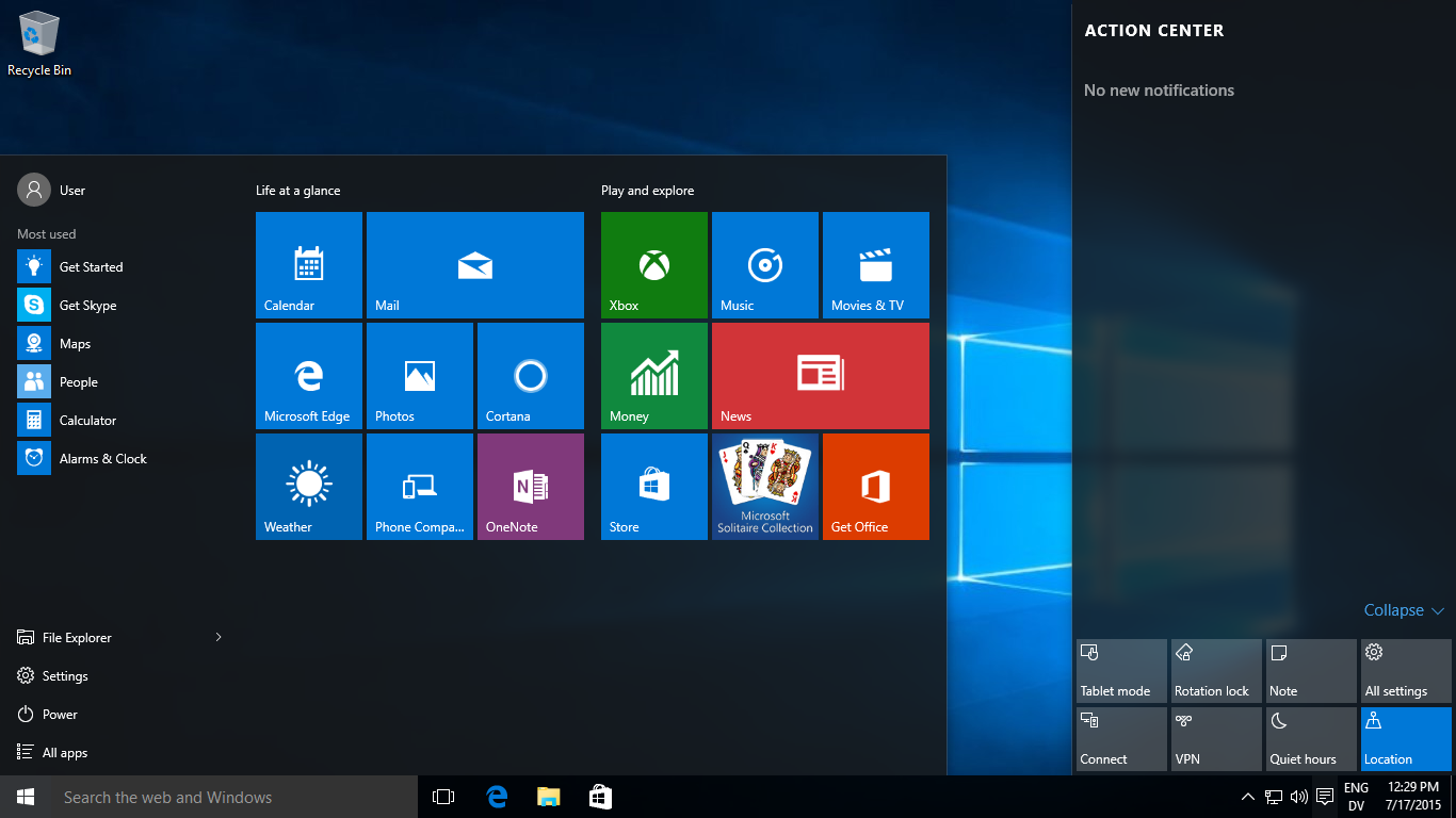 Windows 10 build 10240 RTM
